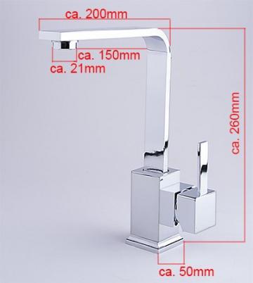 W62 Niederdruck Spültisch KÜCHEN BAD Waschtisch Armatur Küchenarmatur Wasserhahn - 2