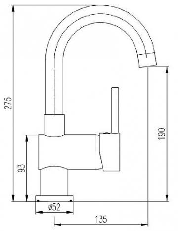 Burgtal 16727 W-16-NE Vantila Einhebel Niederdruck Waschtisch Armatur inkl. Pop Up in Chrom - 3