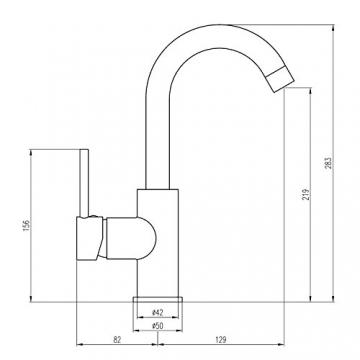 Burgtal 17810 W-19-NC Sora Einhebel Niederdruck Waschtisch Armatur inkl. Pop-Up - 3