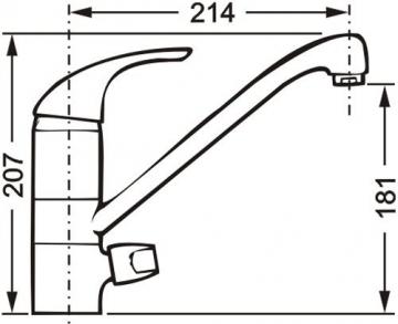 Cornat Stilo Spültisch-Einhebelmischer mit Maschinenanschluss und schwenkbarem Auslauf, chrom, Niederdruck, STI5641 - 3