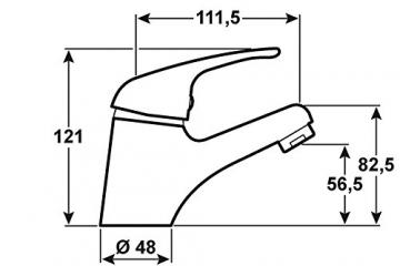 Cornat YA12 Yago Waschtisch Einhebelmischer Niederdruck, chrom - 3