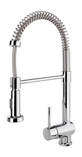 Einhandmischer Bali Professional für Küchenspüle mit Geschirrbrause | Niederdruck | Chrom | Wasserhahn | Spüle - 2