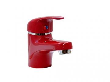 Einhebel Waschtischarmatur in Rot. Niederdruck - 2