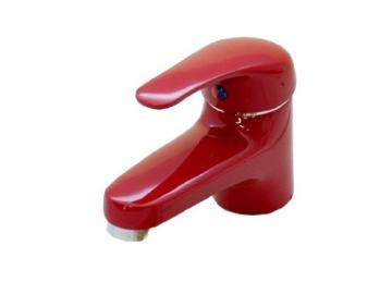 Einhebel Waschtischarmatur in Rot. Niederdruck - 3