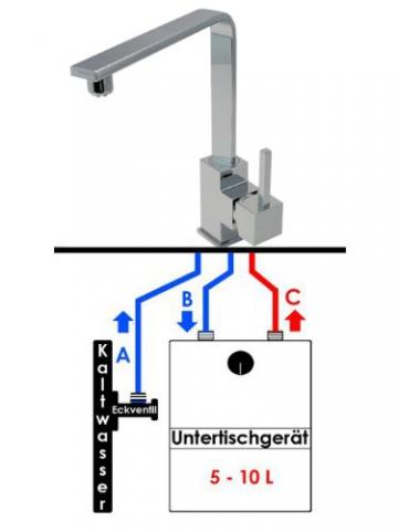 Falcone Armaturen 10072 K-7-NC Quaddro Einhebel Spültisch Armatur Niederdruck Chrom - 3