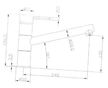 Hochwertige Niederdruck Küchenarmatur mit Schwenkauslauf in Chrom poliert-Spülenarmatur (3 Anschlüsse für Boiler) - 2
