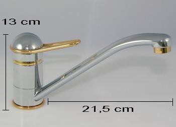 Kirchhoff 10306 Einhebel Spültisch Armatur Niederdruck Chrom/Gold - 3