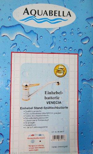 Kirchhoff 10306 Einhebel Spültisch Armatur Niederdruck Chrom/Gold - 4