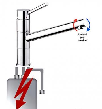 NIEDERDRUCK Armatur Küche Spüle Spültisch Einhandmischer chrom modern - 1