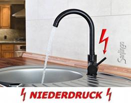 Niederdruck Spültisch Küchen Armatur schönes Design Schwarz Sanlingo - 1