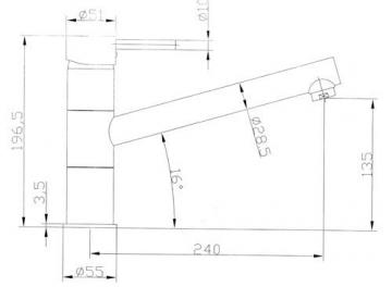 VAF Armatur 8811 Chrom Einhebelmischer Niederdruck Schwenkbar Made In Germany - 2