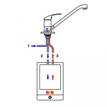 vidaXL Küchenarmatur Wasserhahn Küche Einhebel Niederdruck - 7