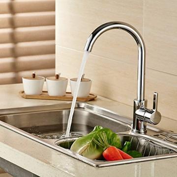 Auralum® 360° Drehbar Niederdruck Wasserhahn Niederdruck Mischbatterie Küchenarmatur - 4