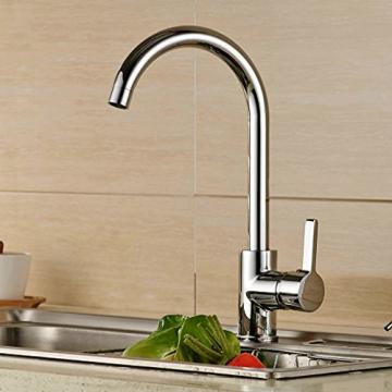 Auralum® 360° Drehbar Niederdruck Wasserhahn Niederdruck Mischbatterie Küchenarmatur - 1