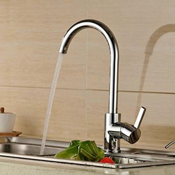Auralum® 360° Drehbar Niederdruck Wasserhahn Niederdruck Mischbatterie Küchenarmatur - 7