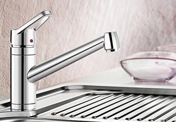 Blanco ACTIS Küchenarmatur, metallische Oberfläche, chrom, Niederdruck, 1 Stück, 512890 - 2