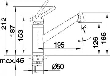 Blanco ACTIS Küchenarmatur, metallische Oberfläche, chrom, Niederdruck, 1 Stück, 512890 - 4