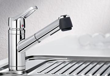 Blanco ACTIS-S Küchenarmatur, metallische Oberfläche, chrom, Niederdruck, 1 Stück, 512914 - 2