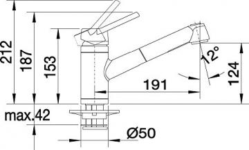 Blanco ACTIS-S Küchenarmatur, metallische Oberfläche, chrom, Niederdruck, 1 Stück, 512914 - 4