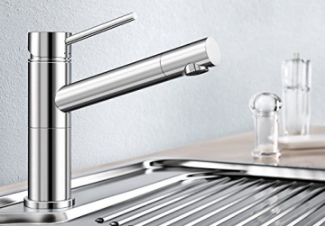 Blanco ALTA Compact Küchenarmatur, metallische Oberfläche, chrom, Niederdruck, 1 Stück, 518447 - 2