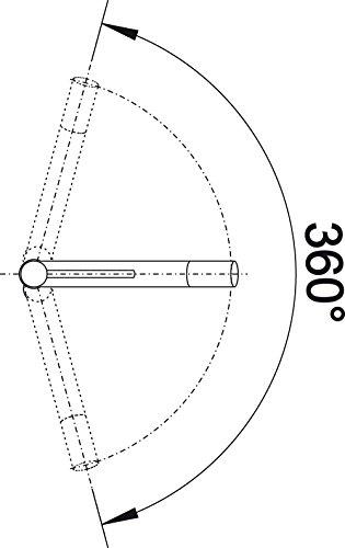 Blanco ALTA Compact Küchenarmatur, metallische Oberfläche, chrom, Niederdruck, 1 Stück, 518447 - 3