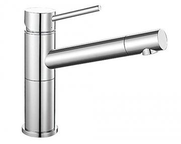 Blanco ALTA Compact Küchenarmatur, metallische Oberfläche, chrom, Niederdruck, 1 Stück, 518447 - 1