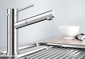 Blanco ALTA-S Compact Küchenarmatur, metallische Oberfläche, chrom, Niederdruck, 1 Stück, 518448 - 2