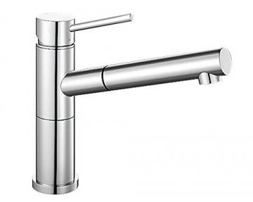 Blanco ALTA-S Compact Küchenarmatur, metallische Oberfläche, chrom, Niederdruck, 1 Stück, 518448 - 1