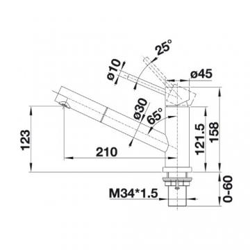 Blanco Altura-S Niederdruck Armatur Edelstahl gebürstet, silber, 519726 - 2