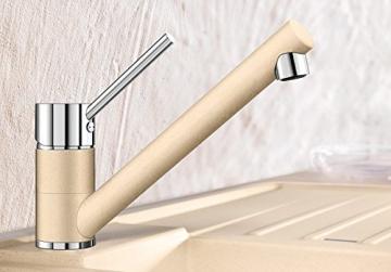 Blanco ANTAS Küchenarmatur, Silgranit-Look, alumetallic / chrom, Niederdruck, 1 Stück, 516104 - 2