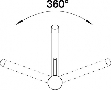 Blanco ANTAS Küchenarmatur, Silgranit-Look, alumetallic / chrom, Niederdruck, 1 Stück, 516104 - 3