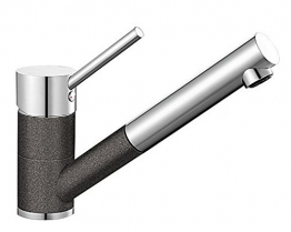 Blanco ANTAS-S Küchenarmatur, Silgranit-Look, anthrazit / chrom, Niederdruck, 1 Stück, 516772 - 1