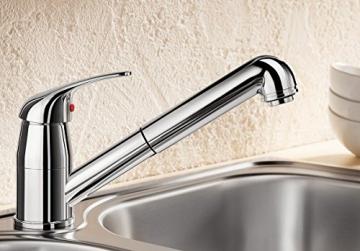 Blanco DARAS-S Küchenarmatur, metallische Oberfläche, Niederdruck, chrom, 1 Stück, 519724 - 2