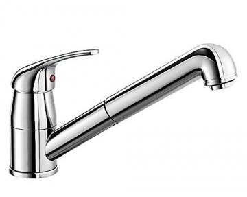 Blanco DARAS-S Küchenarmatur, metallische Oberfläche, Niederdruck, chrom, 1 Stück, 519724 - 1