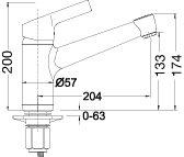 Blanco Elipso II Chrom Niederdruck Armatur Mischbatterie Einhebelmischer Küche - 2