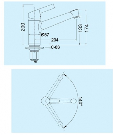 Blanco Elipso II Tartufo Braun Wasserhahn Niederdruck Armatur Einhandmischer - 2