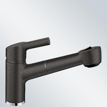 Blanco Elipso-S II Anthrazit Niederdruck Spültisch-Armatur Grau Wasserhahn Küche - 1
