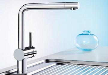 Blanco LINUS Küchenarmatur, metallische Oberfläche, chrom, Niederdruck, 1 Stück, 514020 - 2