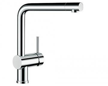 Blanco LINUS Küchenarmatur, metallische Oberfläche, chrom, Niederdruck, 1 Stück, 514020 - 1