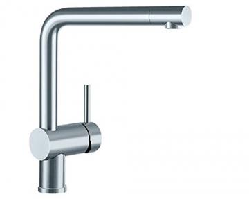 Blanco LINUS Küchenarmatur, metallische Oberfläche, Edelstahl finish, Niederdruck, 1 Stück, 514022 - 1