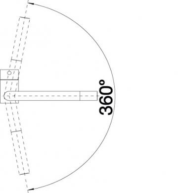 Blanco LINUS Küchenarmatur, metallische Oberfläche, Edelstahl finish, Niederdruck, 1 Stück, 514022 - 3