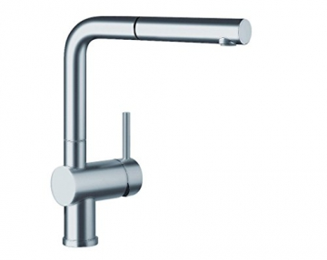 Blanco LINUS-S Küchenarmatur, metallische Oberfläche, Edelstahl finish, Niederdruck, 1 Stück, 512202 - 1