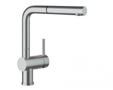 Blanco LINUS-S Küchenarmatur, metallische Oberfläche, chrom matt, Niederdruck, 1 Stück, 512201 - 1