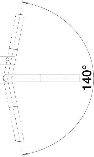 Blanco LINUS-S Küchenarmatur, metallische Oberfläche, chrom matt, Niederdruck, 1 Stück, 512201 - 3