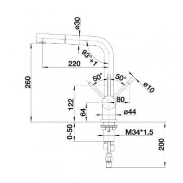 Blanco Lomis-S Niederdruck Armatur Edelstahl gebürstet, silber, 519725 - 2
