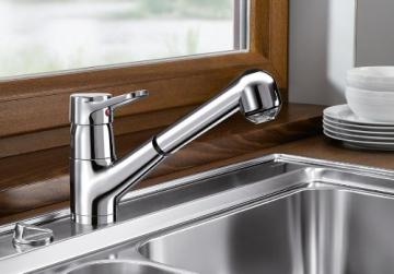 Blanco Orion-S-F Chrom Niederdruck Küchenarmatur Vorfenster-Armatur Wasserhahn - 2