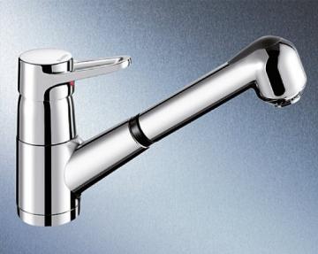 Blanco Orion-S-F Chrom Niederdruck Küchenarmatur Vorfenster-Armatur Wasserhahn - 1