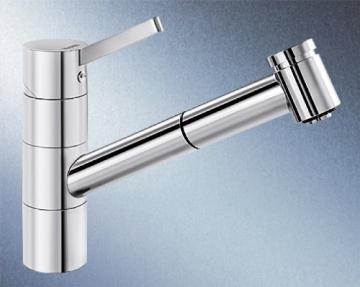 Blanco Tivo-S-F Chrom Niederdruck Armatur Schlauchbrause Einhandmischer Küche ND - 1