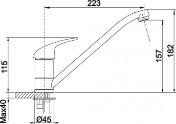 Blanco Vitis Küchenarmatur, chrom, Niederdruck, 516991 - 4