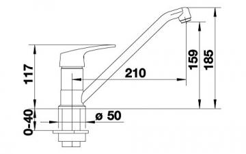 Blanco Wega Küchenarmatur, chrom, Niederdruck, 514211 - 4